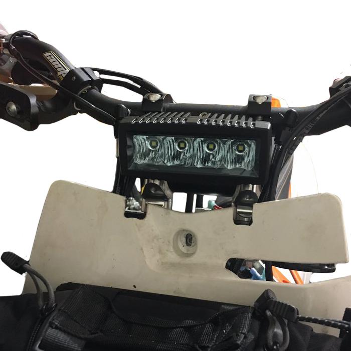 Dirt Bike Headlight Light Bar Kit Universal Light For Any Dirt