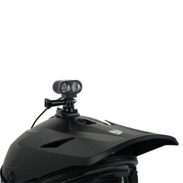 snowbike helmet light