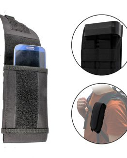 cellphone pouch attached to backpack